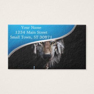 Cartão De Visitas Lobo indiano - lobo cinzento