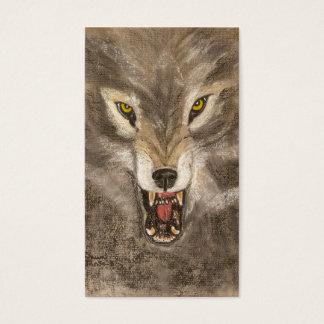 Cartão De Visitas Lobo Snarling