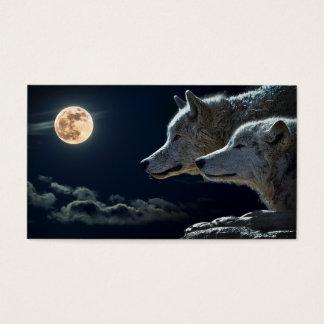 Cartão De Visitas Lobos da meia-noite