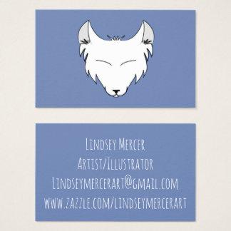 Cartão De Visitas Logotipo de Lindsey Mercer