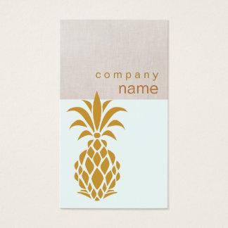 Cartão De Visitas Logotipo tropical elegante do abacaxi