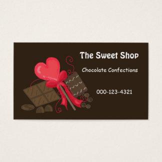 Cartão De Visitas Loja doce do chocolate
