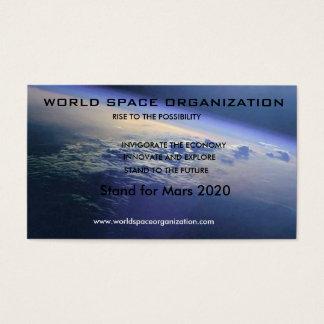 Cartão De Visitas looking_down_on_earth, ORGANIZAÇÃO do ESPAÇO do