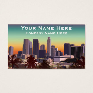 Cartão De Visitas Los Angeles do centro - imagem customizável