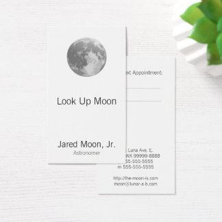 Cartão De Visitas Lua cheia