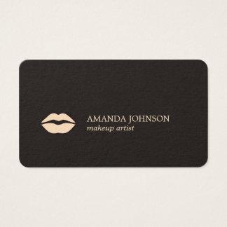 Cartão De Visitas Luz escura minimalista - maquilhador cor-de-rosa