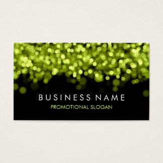 Cartão De Visitas Luzes verdes da faísca simples
