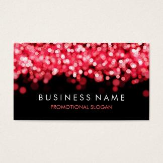 Cartão De Visitas Luzes vermelhas da faísca simples