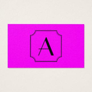 Cartão De Visitas Magenta customizável do canto do corte do quadrado