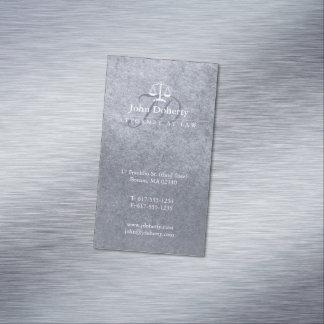 Cartão De Visitas Magnético Advogado em escalas elegantes da lei | de justiça