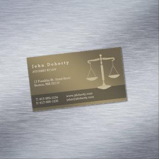 Cartão De Visitas Magnético Advogado no advogado profissional da lei |