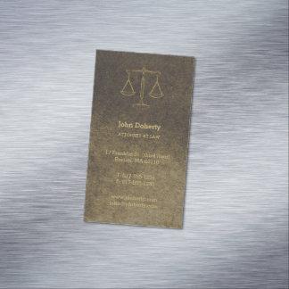 Cartão De Visitas Magnético Advogado no ouro perfeito da lei |