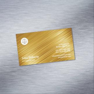 Cartão De Visitas Magnético Advogado no ouro profissional da lei |