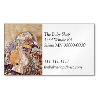 Cartão De Visitas Magnético Bebê na edredão brilhantemente colorida