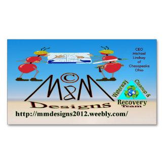Cartão De Visitas Magnético Cartão de negócios 2 de M & de M Deisgns