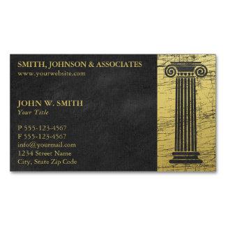 Cartão De Visitas Magnético Coluna da empresa de advocacia de advogados do