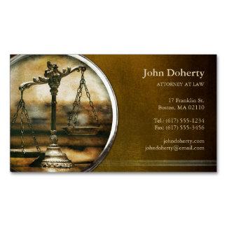 Cartão De Visitas Magnético Escalas da foto elegante do vintage de justiça |