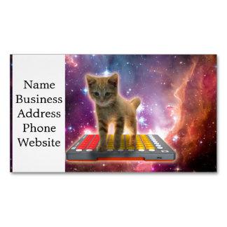 Cartão De Visitas Magnético gato do teclado - gato de gato malhado - gatinho