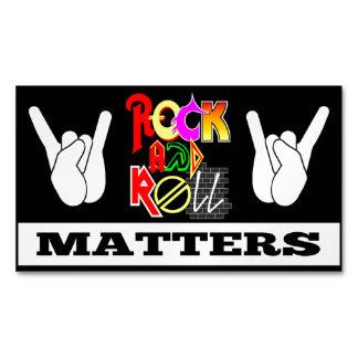 Cartão De Visitas Magnético Ímã do negócio das matérias do rock and roll