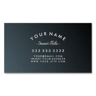 Cartão De Visitas Magnético Inclinação curvado elegante do preto do cadete do