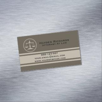 Cartão De Visitas Magnético Justiça do advogado escala o advogado
