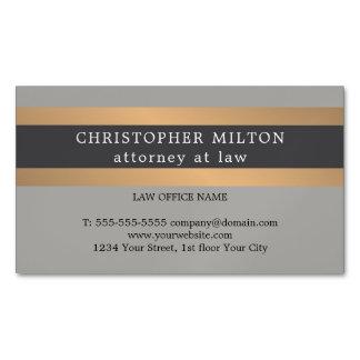 Cartão De Visitas Magnético O falso cinzento elegante reveste o advogado da
