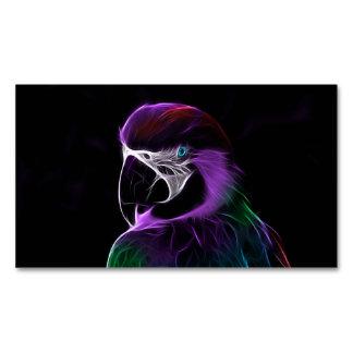 Cartão De Visitas Magnético Papagaio