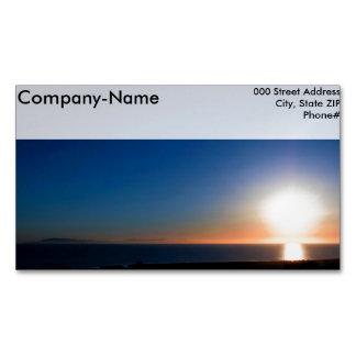 Cartão De Visitas Magnético Por do sol de Ventura