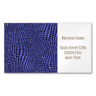 Cartão De Visitas Magnético Rede Sparkling do metal, azul