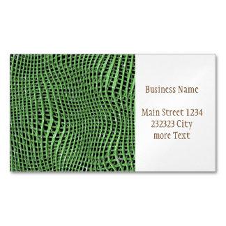 Cartão De Visitas Magnético Rede Sparkling do metal, verde