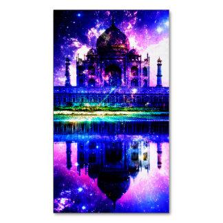Cartão De Visitas Magnético Sonhos iridescentes de Taj Mahal