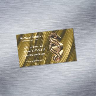 Cartão De Visitas Magnético Textura dourada