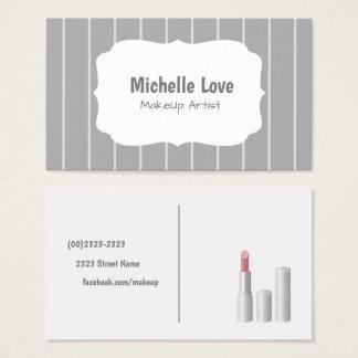 Cartão De Visitas Makeup Artist Business Card Grey