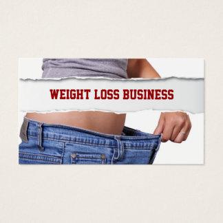 Cartão De Visitas Malhação da perda de peso da menina