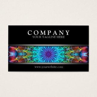 Cartão De Visitas Mandala colorida moderna