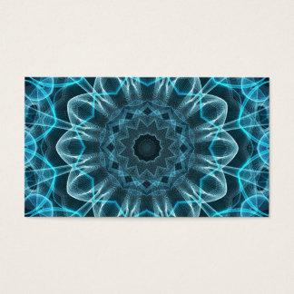 Cartão De Visitas Mandala da felicidade do azul de gelo