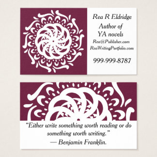 Cartão De Visitas Mandala do Mulberry