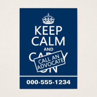 Cartão De Visitas Mantenha a calma e chame um advogado (em alguma