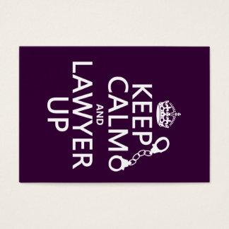 Cartão De Visitas Mantenha a calma e o advogado acima (alguma cor)