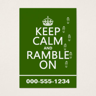 Cartão De Visitas Mantenha a calma e Ramble sobre