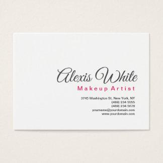 Cartão De Visitas Maquilhador branco simples moderno minimalista