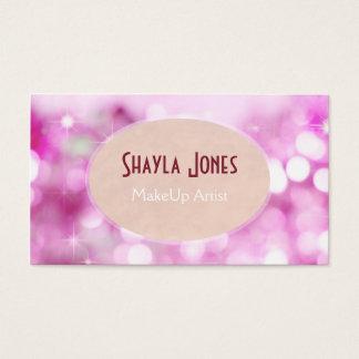 Cartão De Visitas Maquilhador cor-de-rosa da textura do brilho