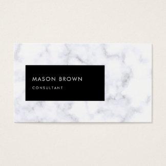 Cartão De Visitas Mármore branco moderno de Profi do consultante