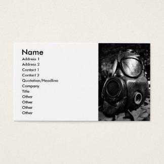 Cartão De Visitas Máscara de gás