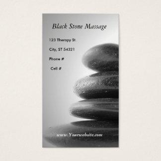 Cartão De Visitas Massagem de pedra preta
