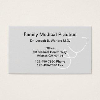 Cartão De Visitas Médico de família simples