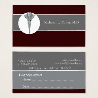 Cartão De Visitas Médico iconográfico do médico da nomeação