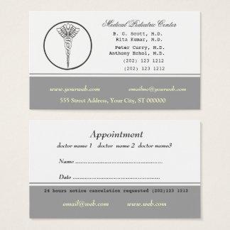 Cartão De Visitas Médico nomeação da cor neutra pálida