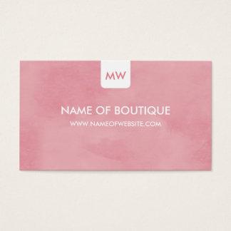 Cartão De Visitas Meios chiques cor-de-rosa simples do Social do