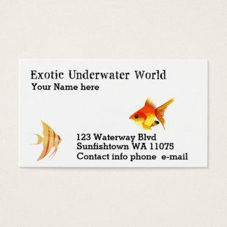 Cartão De Visitas Mergulhador, loja dos peixes, lições da natação